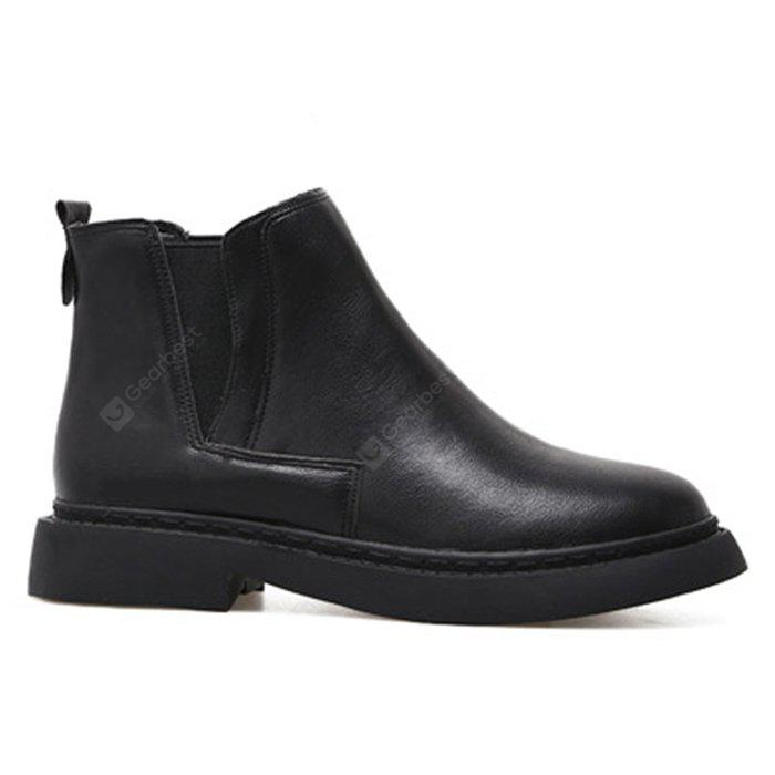 Runde Zehe flache Chelsea Ankle Boots