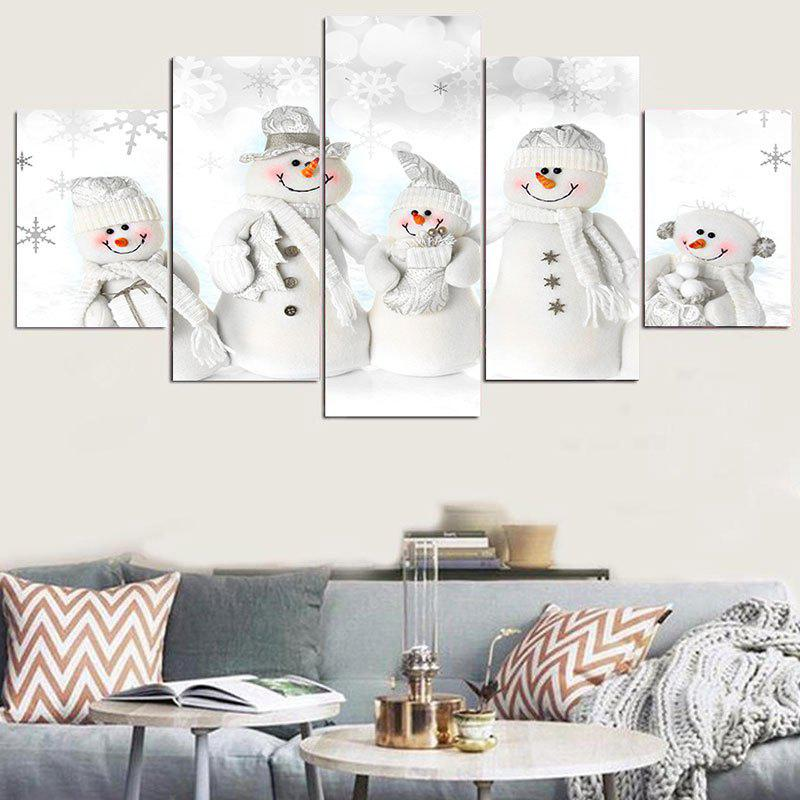 Snowmen Family Patterned Wall Stickers