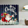 Christmas Santa with Gifts Print Waterproof Shower Curtain - COLORMIX