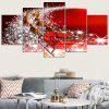 Starlight Christmas Sleigh Pattern Wall Art Stickers - ROSSO CON BIANCO