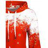 Plus Size Christmas Snowflake Tree Hoodie with Pocket - RED
