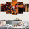 Christmas Decorations Fireplace Pattern Wall Stickers - ORANGE RED
