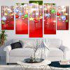 Christmas Hanging Decorations Pattern Wall Stickers - RED