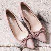 Bowknot Pointed Toe Pumps - PINK