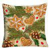 Novelty Christmas Graphic Decorative Square Pillowcase - COLORMIX