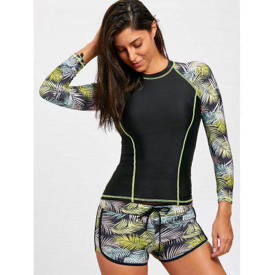 Long Sleeve Jungle Print SwimsuitLingerie &amp; Shapewear<br>Long Sleeve Jungle Print Swimsuit<br><br>Bra Style: Padded<br>Elasticity: Elastic<br>Gender: For Women<br>Material: Nylon, Spandex<br>Neckline: High Neck<br>Package Contents: 1 x Top  1 x Bottom<br>Pattern Type: Print<br>Support Type: Wire Free<br>Swimwear Type: Two-Pieces Separate<br>Waist: Natural<br>Weight: 0.3500kg