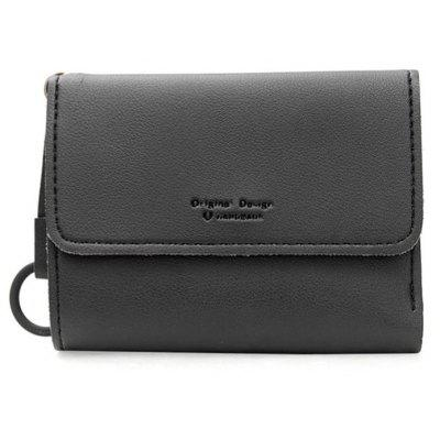 Tri Fold PU Leather Card Holder