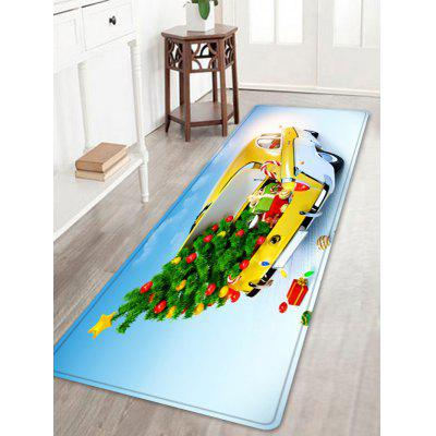 Christmas Tree In Car Pattern Water Absorption Area Rug