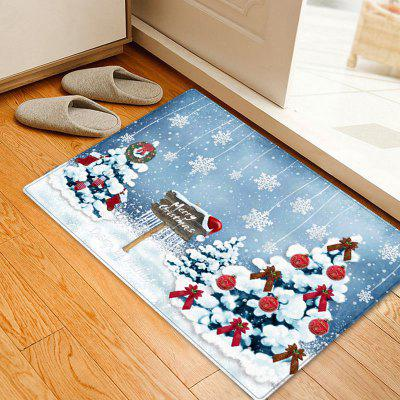 Christmas Trees Snowflakes Pattern Water Absorption Area Rug