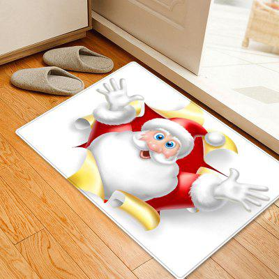 Christmas Santa Broken Pattern Water Absorption Area Rug