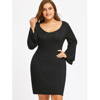 Tiered Sleeve Plus Size Dress