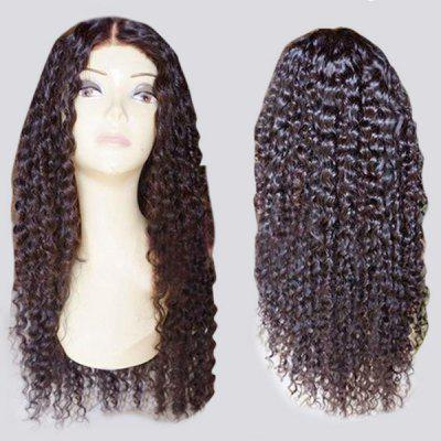 Long Center Parting Fluffy Curly Lace Front Synthetic Wig