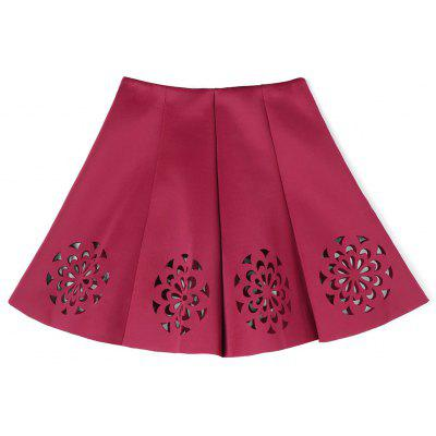Floral Cutwork Skirt