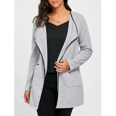 Open Front Draped Tunic Cardigan