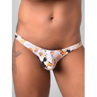 Low Rise Colorful Ball Print Thongs