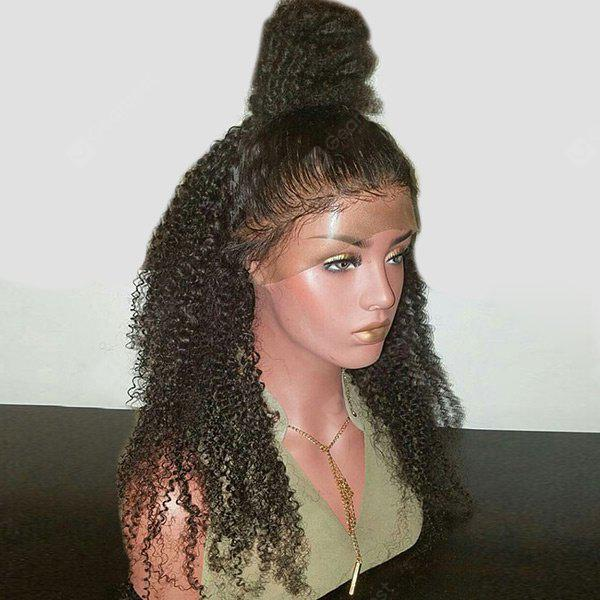 Long Free Part Fluffy Kinky Curly Synthetic Lace Front Wig