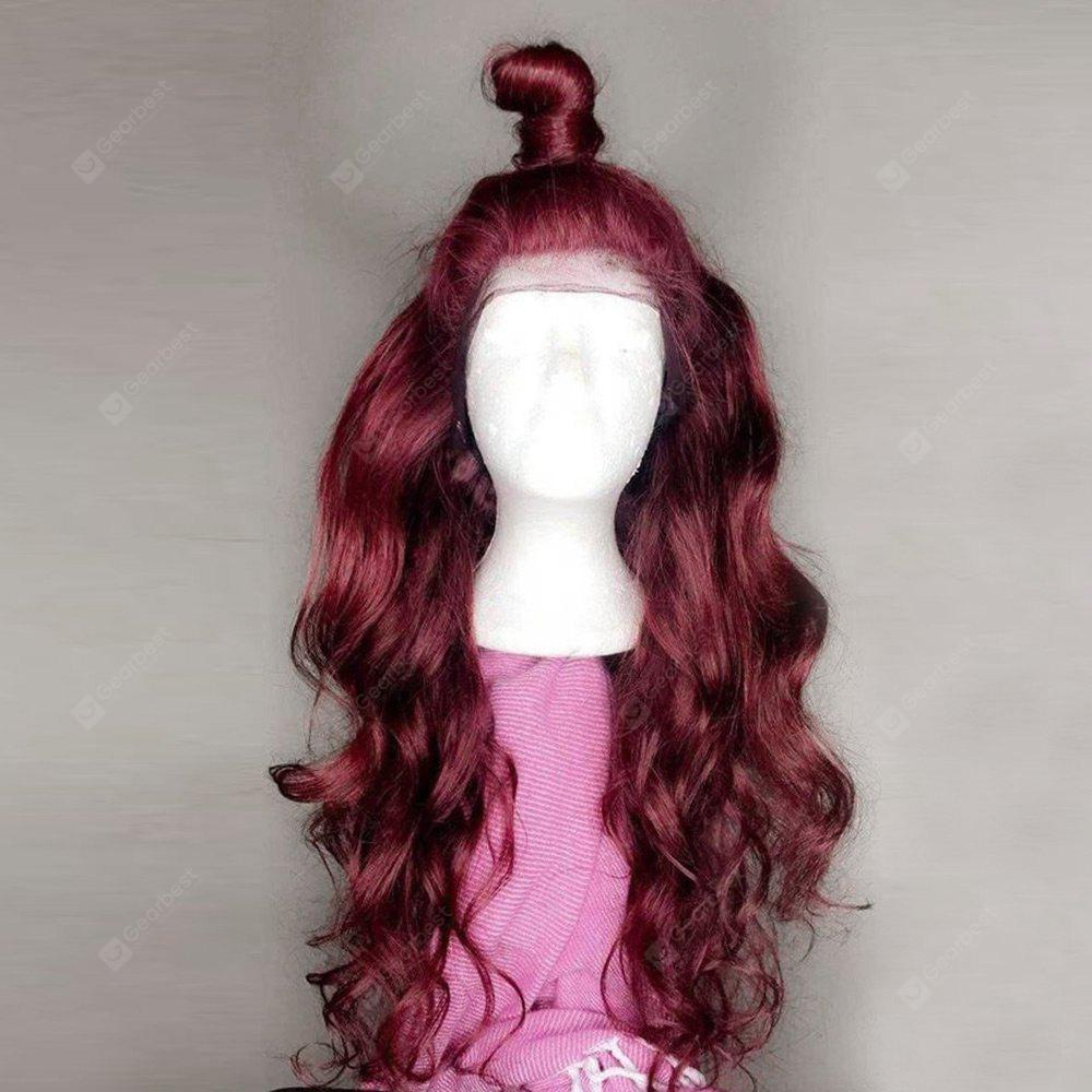 Long Free Part Body Wave Lace Front Synthetic Wig