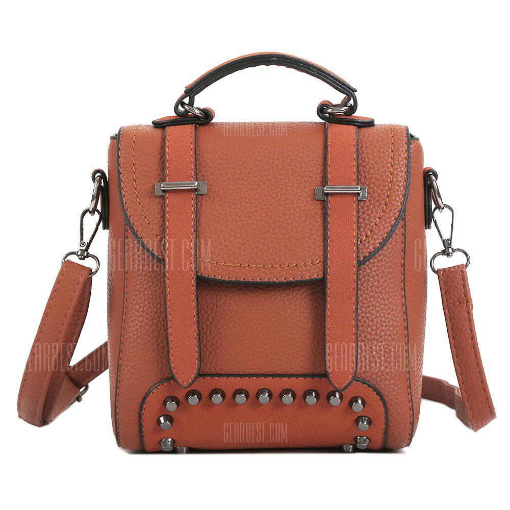 Multi Function Studs Buckle Strap Backpack
