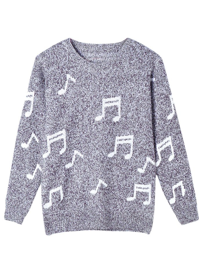 Marled Music Notes Sweater