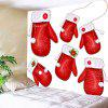 Christmas Gloves Pattern Wall Hanging Tapestry - RED AND WHITE