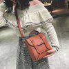 Multi Function Studs Buckle Strap Backpack - BROWN