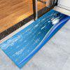 Christmas Snowman Snowflakes Pattern Water Absorption Area Rug - BLUE