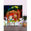 Christmas Graphic Waterproof Polyester Bath Curtain - COLORMIX