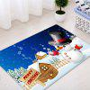 Christmas Snowman House Pattern Water Absorption Area Rug - COLORMIX