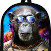 3D Orangutan Astronaut Print Backpack - COFFEE
