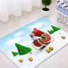 Christmas Trees Sleigh Pattern Water Absorption Area Rug - COLORMIX