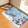 Christmas Trees Snowflakes Pattern Water Absorption Area Rug - COLORMIX