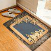 Christmas Woodgrain Tree Pattern Water Absorption Area Rug - COLORMIX