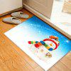 Christmas Snowman Bell Pattern Water Absorption Area Rug - COLORMIX