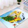 Christmas Tree In Car Pattern Water Absorption Area Rug - COLORMIX