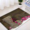 Christmas Wood Shoe Pattern Water Absorption Area Rug - WOOD