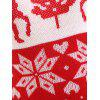 Christmas Elk Snowflake Jacquard Plus Size Sweater - RED