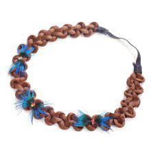 Peacock Feathers Decoration Braids Synthetic Wig Hair Band