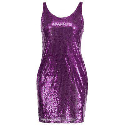 Sleeveless Sequins Fitted Dress