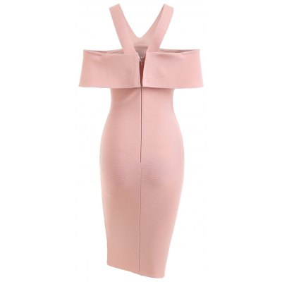 Flounce V Neck Bandage Prom DressBodycon Dresses<br>Flounce V Neck Bandage Prom Dress<br><br>Dresses Length: Knee-Length<br>Embellishment: Flounce<br>Material: Polyester<br>Neckline: V-Neck<br>Occasion: Evening, Prom<br>Package Contents: 1 x Dress<br>Pattern Type: Solid Color<br>Season: Fall<br>Silhouette: Sheath<br>Sleeve Length: Short Sleeves<br>Style: Brief<br>Weight: 0.6550kg<br>With Belt: No