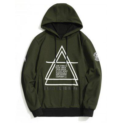 Buy ARMY GREEN XL Graphic Flocking Hoodie for $21.99 in GearBest store