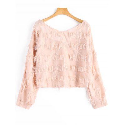 Fringes Cropped Blouse