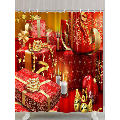 Christmas Gifts Printed Waterproof Polyester Bath Curtain
