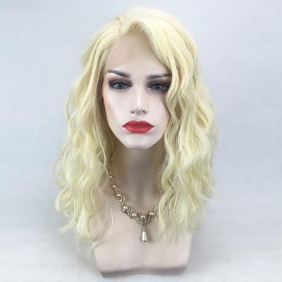 Side Parting Medium Natural Wavy Lace Front Synthetic Wig