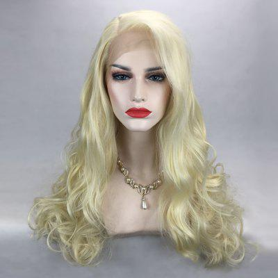 Long Side Parting Fluffy Wavy Lace Front Synthetic Wig