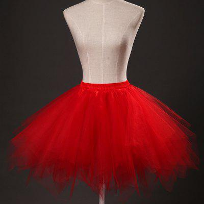Zaful Women Candy Color Solid Color Tutu Skirt Petticoat