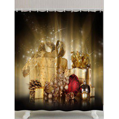 Christmas Gifts Pattern Waterproof Polyester Shower Curtain