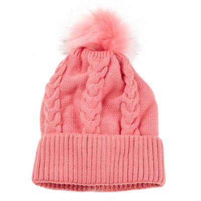 Outdoor Striped Pattern Embellished Crochet Knitted Beanie