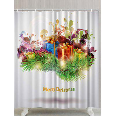 Christmas Gifts Printed Waterproof Polyester Shower Curtain