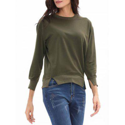 Crew Neck Candy Color Slit SweatshirtSweatshirts &amp; Hoodies<br>Crew Neck Candy Color Slit Sweatshirt<br><br>Material: Polyester<br>Package Contents: 1 x Sweatshirt<br>Pattern Style: Solid<br>Season: Fall, Spring<br>Shirt Length: Regular<br>Sleeve Length: Three Quarter<br>Style: Casual<br>Weight: 0.3100kg