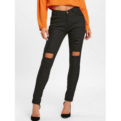 High Waisted Skinny Ripped Pants